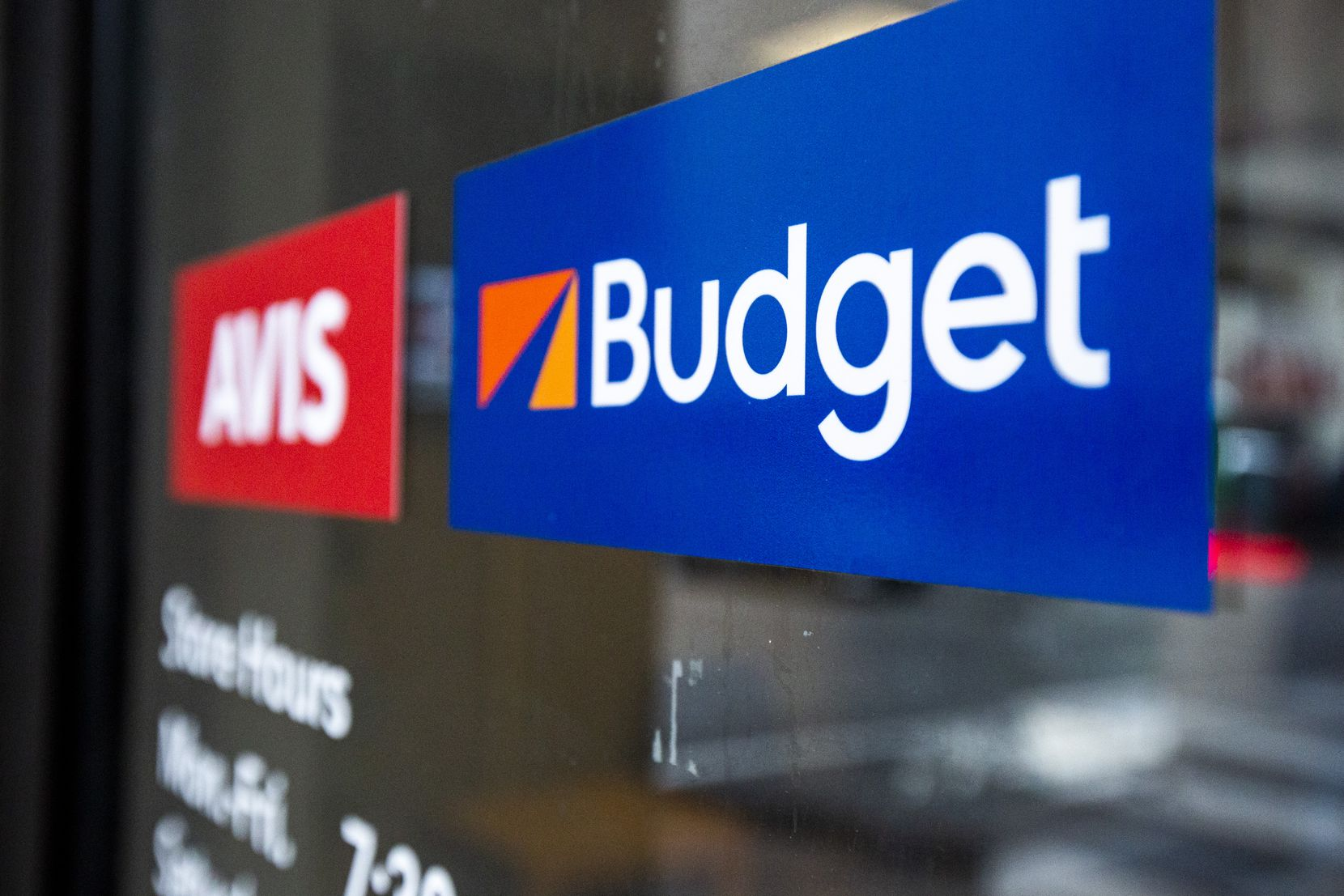 The Budget and Avis office in downtown Dallas on Thursday, Feb. 13, 2020. (Lynda M. Gonzalez/The Dallas Morning News)
