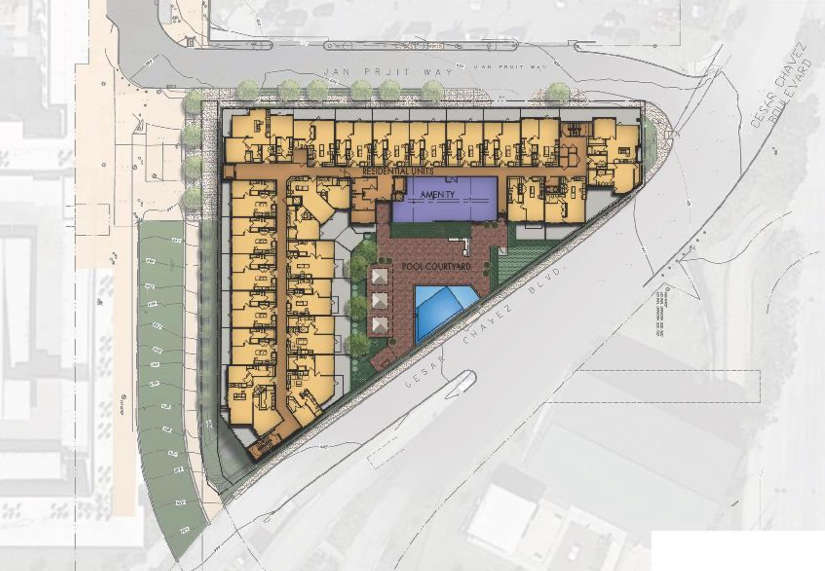 The six-story rental community is planned on one of the last building sites in the Dallas Farmers Market area.