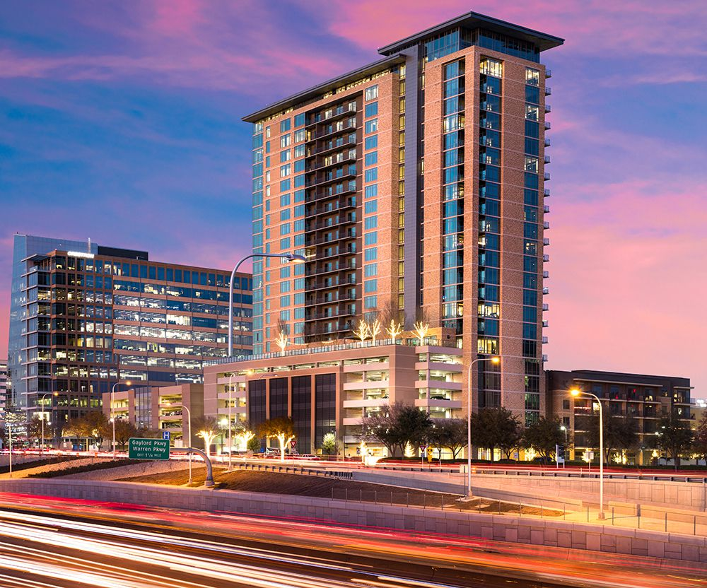 The 25-story Kincaid at Legacy apartments are on the Dallas North Tollway in Plano.