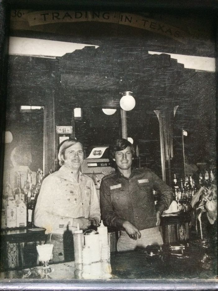 Phil Cobb and Gene Street at their first Black-eyed Pea location on Cedar Springs.