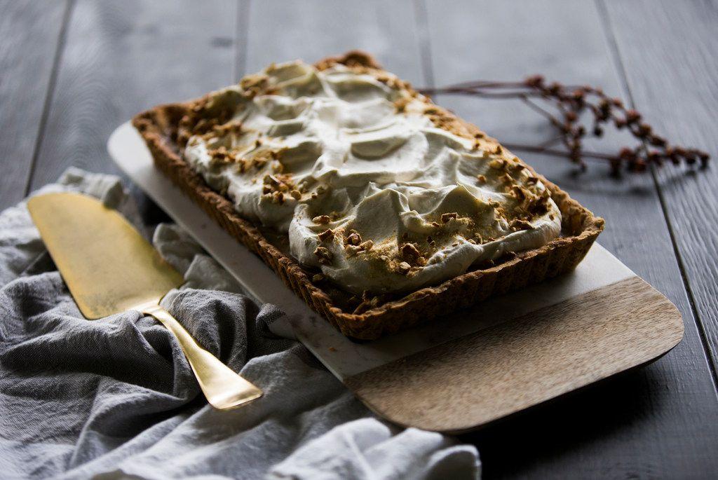Butterscotch Pretzel Tart