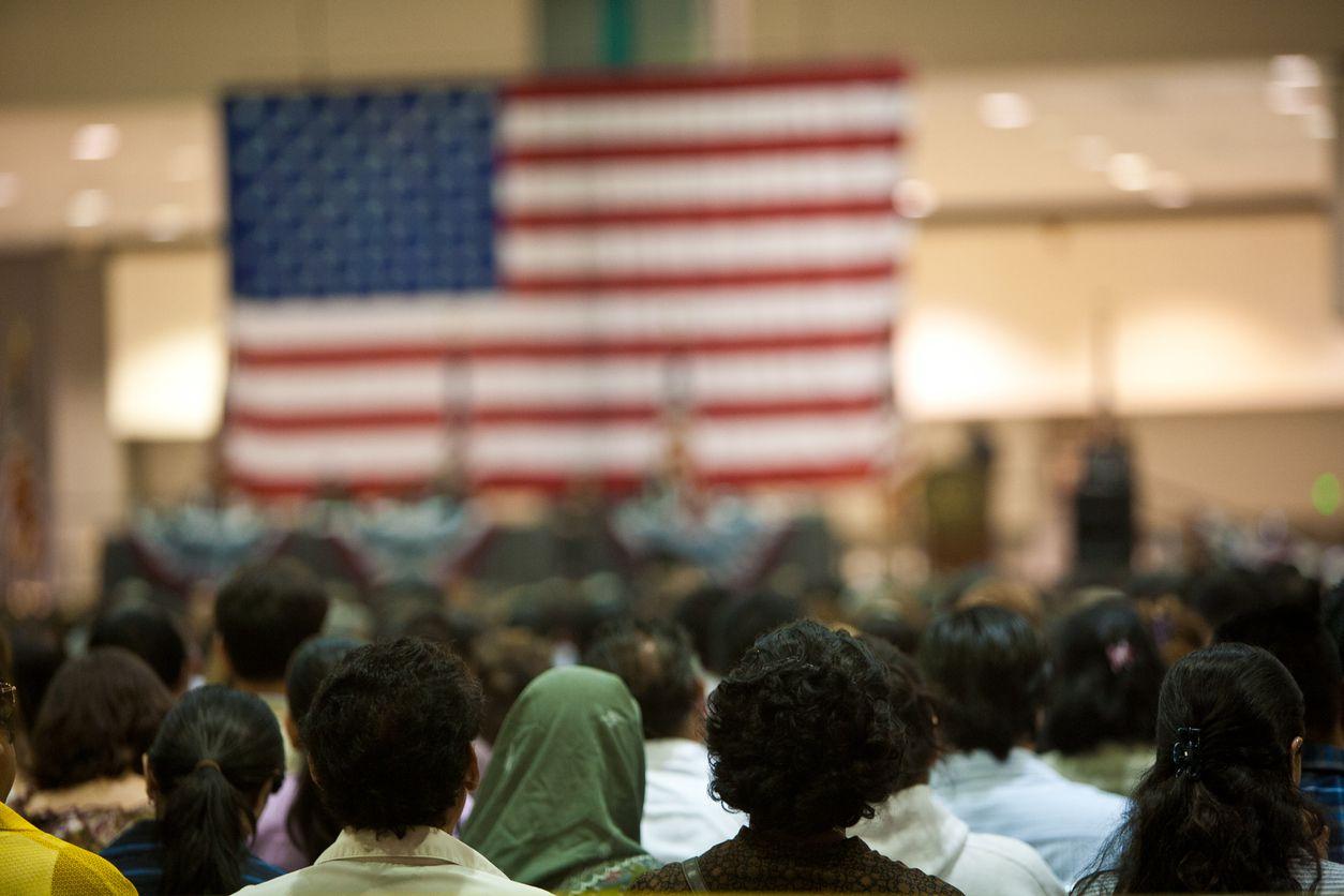 Una ceremonia de naturalización en Los Ángeles.