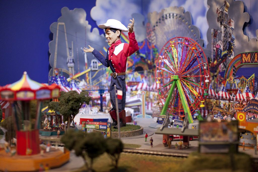 "Big Tex and the State Fair appear in ""The Trains at NorthPark,"" running Nov. 22, 2014-Jan. 4, 2015."