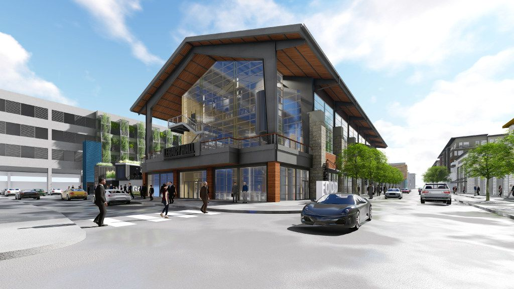 'Plano, as we all know, is the center of the universe up north,'  says Pat Garza, vice president of Legacy Hall. 'It's really a new CBD [central business district] if you will, with all the relocations of the corporate headquarters.'  Legacy Hall will be a three-story building with more than 20 food stalls, two bars, a beer garden and a brewery.