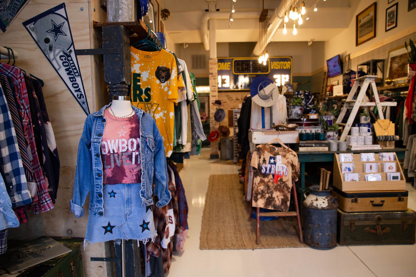 The inside of Game Day Style across from The Star in Frisco. It's Brittany Cobb's third store. The other two are Flea Style locations in Deep Ellum and Frisco.