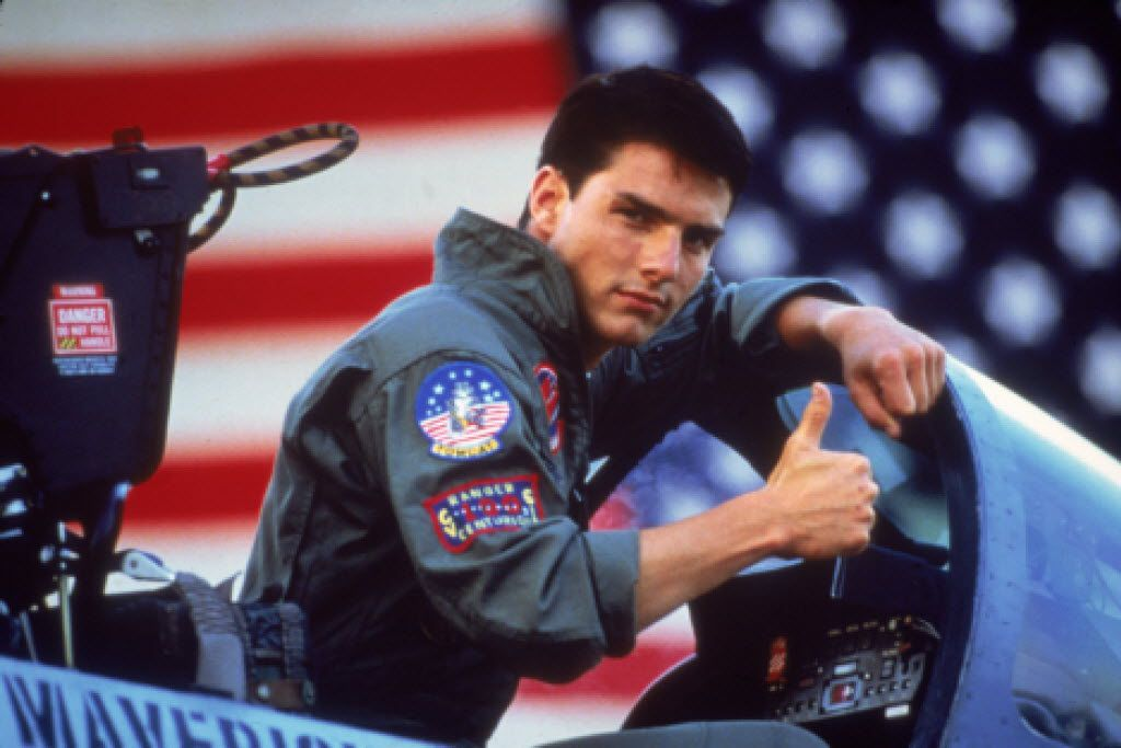 """FILE - In this undated film publicity image released by Paramount Pictures, Tom Cruise is shown in a promotional image for the 1986 film, """"Top Gun."""" (AP Photo/Paramount Pictures) 02082013xGUIDE 02082013xBRIEFING"""