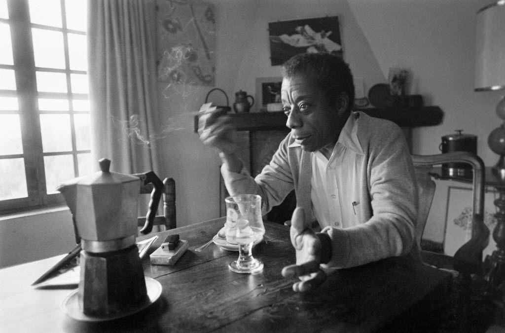 James Baldwin at his home in Saint-Paul-de-Vence, southern France, on Nov. 6, 1979.