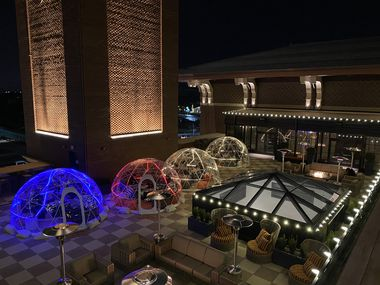 """Hotel Vin in Grapevine is offering a new dining experience. Take a look at the """"bubbles"""" found at the hotel's Rioja Rooftop Terrace."""