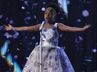 """Keller designer Bee J Stanley's dress was worn by an """"America's Got Talent"""" contestant on the live broadcast."""