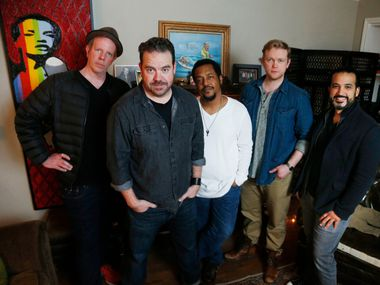 Hartman (front) will be performing with other members of Mur, Paul Williams, Chadwick Murray, Ian Ferguson and John Solis.