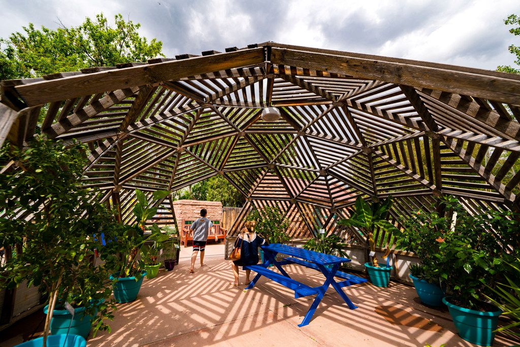 The Paul Smith Children's Village at Cheyenne Botanic Gardens features a wetlands area, giant Jenga and more.