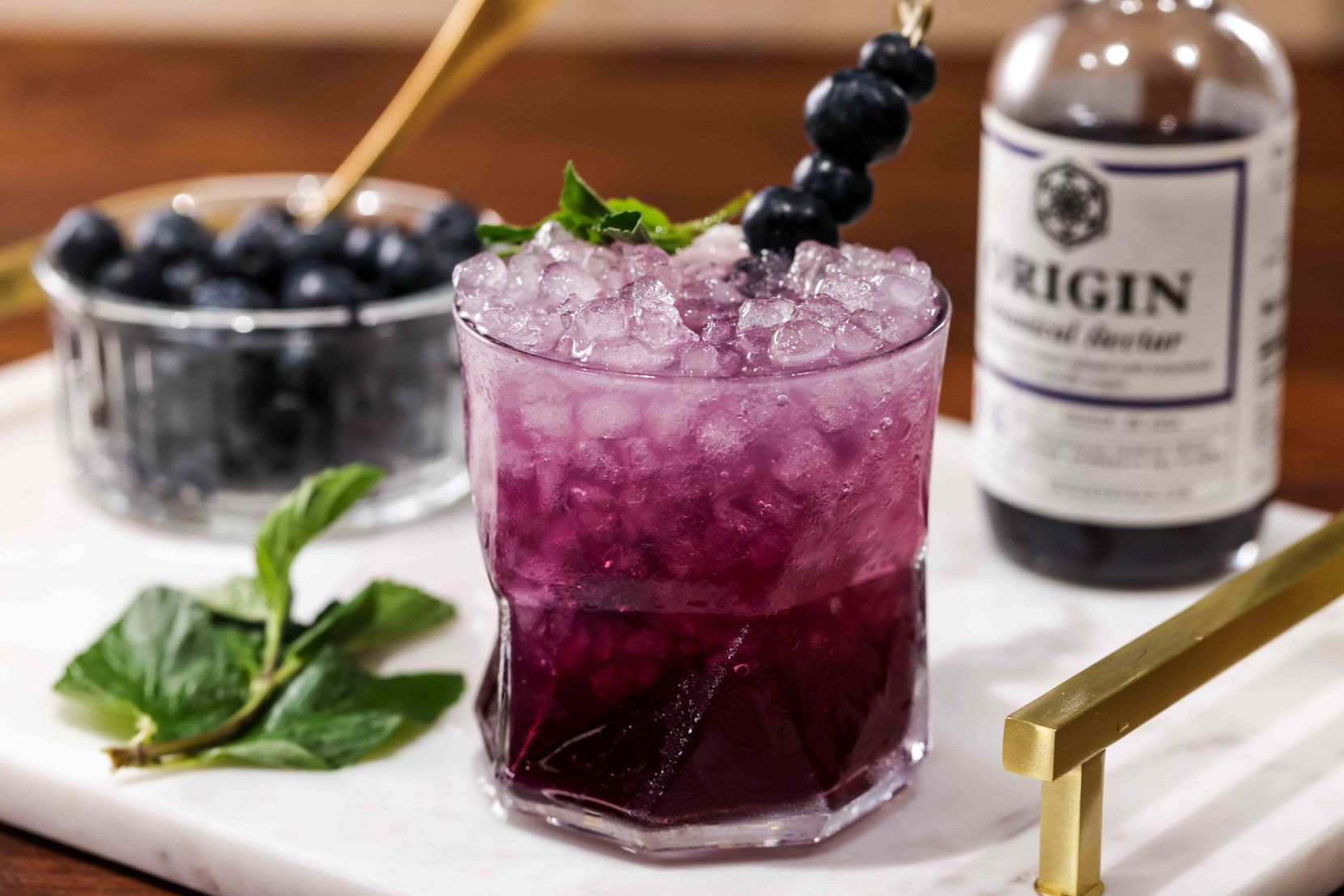 Purple Passion, an alcohol-free beverage by Beth Hutson from The Elevated Elixir
