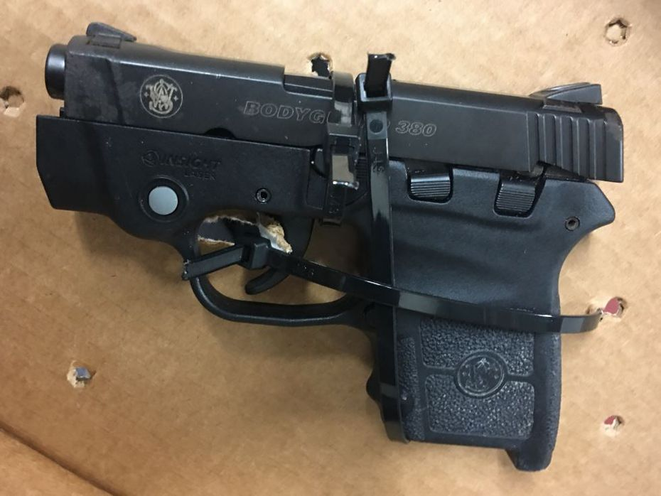 TSA officers found this gun. (TSA)