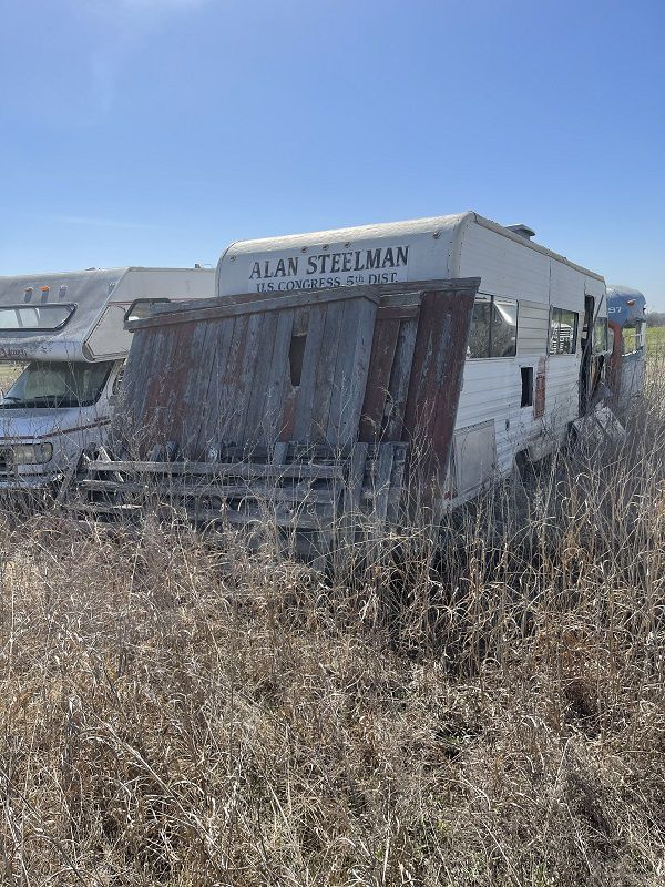Alan Steelman found the RV he used for to visit constituents when he represented Dallas in the U.S. House, rusting in a field.