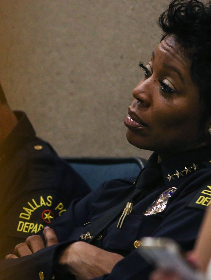 Dallas Police Chief U. Renee Hall attends a City Council meeting June 12, 2019, at Dallas City Hall.