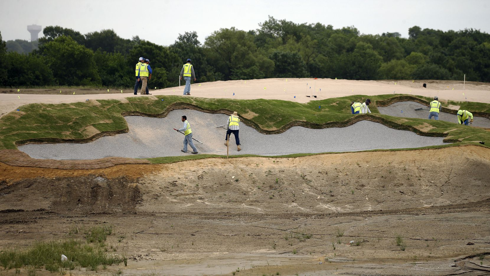 Construction along the East Course designed by Gil Hanse at PGA Frisco in Frisco, Texas, on Wednesday, May 20, 2020. The $520 million project is a mixed-use development that will be home to the PGA of America headquarters and two championship golf courses.