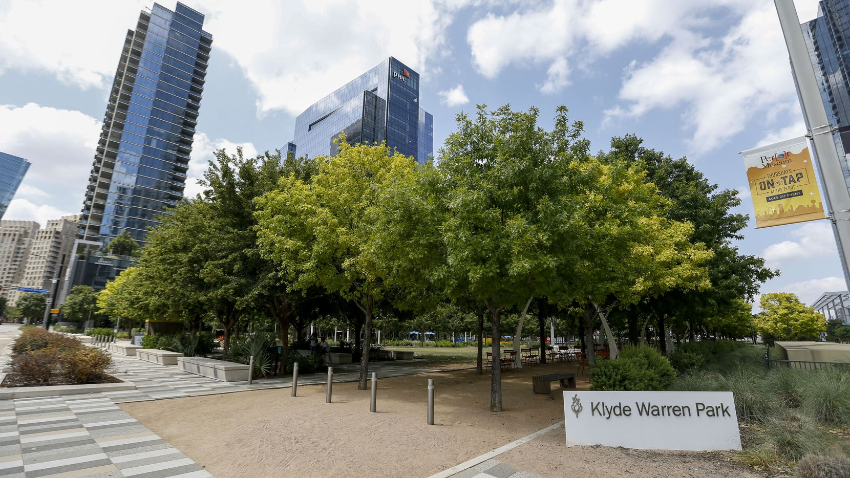 Klyde Warren Park on Wednesday, June 23, 2021, in Dallas. (Elias Valverde II/The Dallas Morning News)