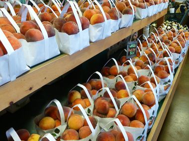 Peaches, peaches, peaches are the core of Ham Orchards' business.