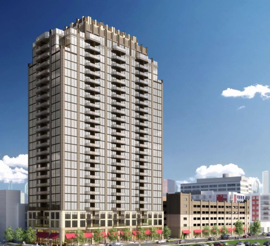 Apartments in the Victory Place tower on Houston Street start at just under $1,500 a month.