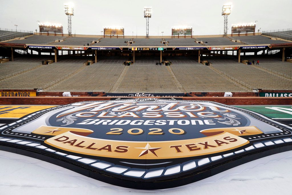 The Dallas Stars will face off in the NHL Winter Classic hockey game against the Nashville Predators at the Cotton Bowl, Wednesday, January 1, 2019. (Tom Fox/The Dallas Morning News)