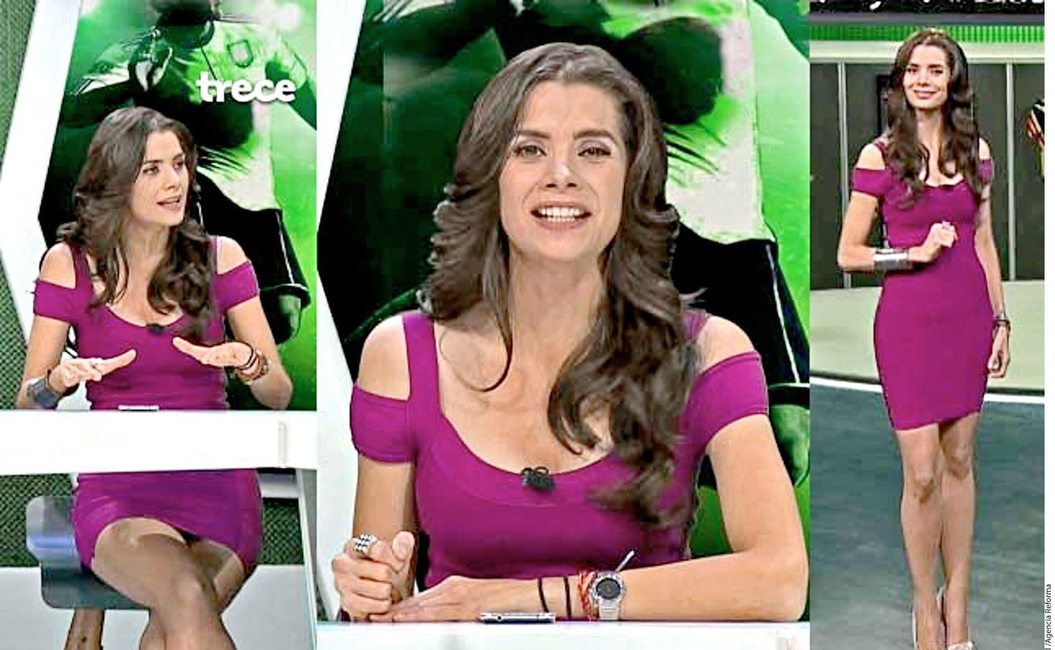 Rebeka Zebrekos asegura que en TV Azteca no la dejaban hablar de temas deportivos, sino solo leer  tuits y hablar sobre el físico de los jugadores. AGENCIA REFORMA