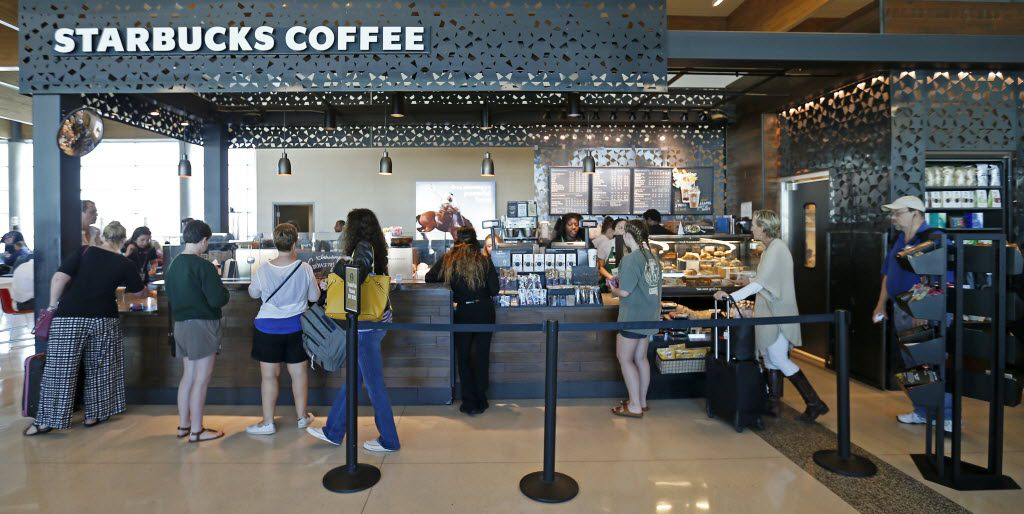 Starbucks Coffee is among the current offerings for food and beverages at Dallas Love Field.