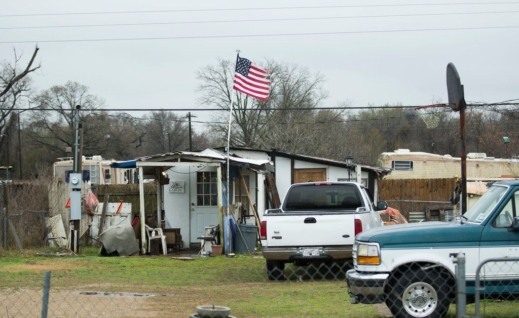 A house in Sandbranch, an unincorporated area of Dallas County near Seagoville, on March 3, 2019.