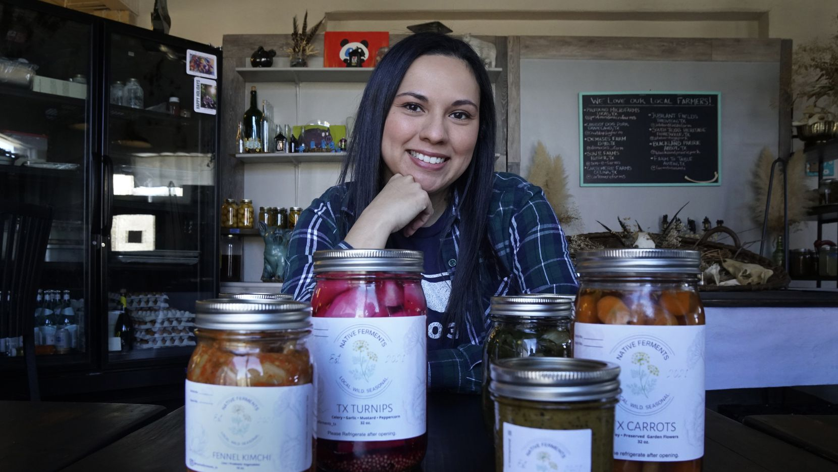 Jessica Alonzo with her Native Ferments at Petra and the Beast in Dallas