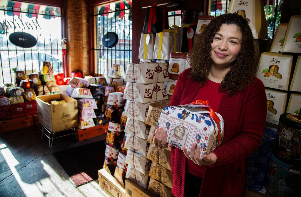 Employee Mila Alvarado had never tried the Italian sweet bread before she started to work as a cashier at Jimmy's. She is now store's expert and handles the selection of this imported bread.
