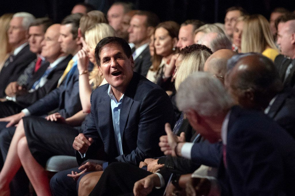 Mark Cuban attended the first presidential debate last Monday. (The Associated Press)