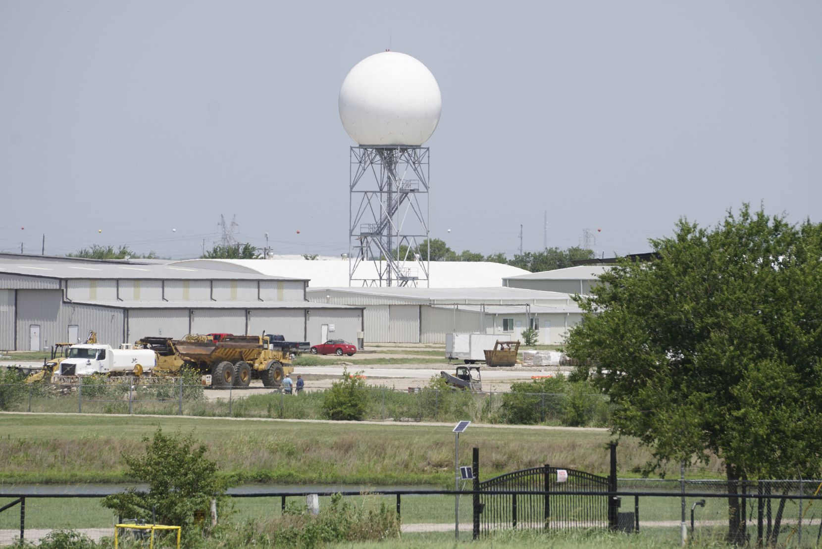 National Weather Service doppler radar at Spinks Airport in Burleson on July 9, 2019.