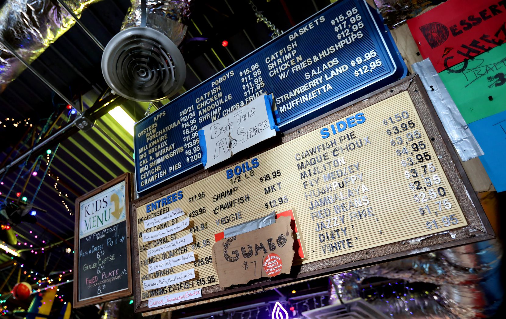 The menu at Bongo Beaux's Bourre Palace & Cajun Kitchen in Celina looks like it's been there forever, but it's actually only been up and serving guests for a few days.