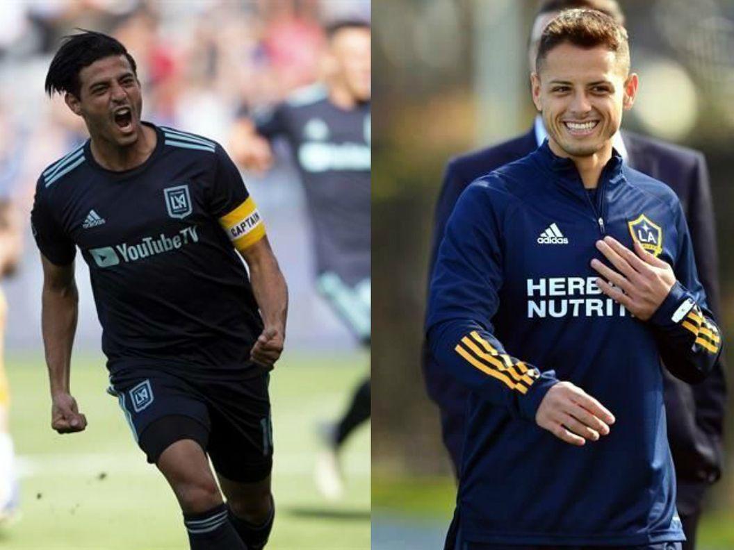 Los delanteros mexicanos, Carlos Vela del LAFC (izq), y Javier Hernández, del Galaxy de Los Ángeles, regresarán a la actividad de la MLS.