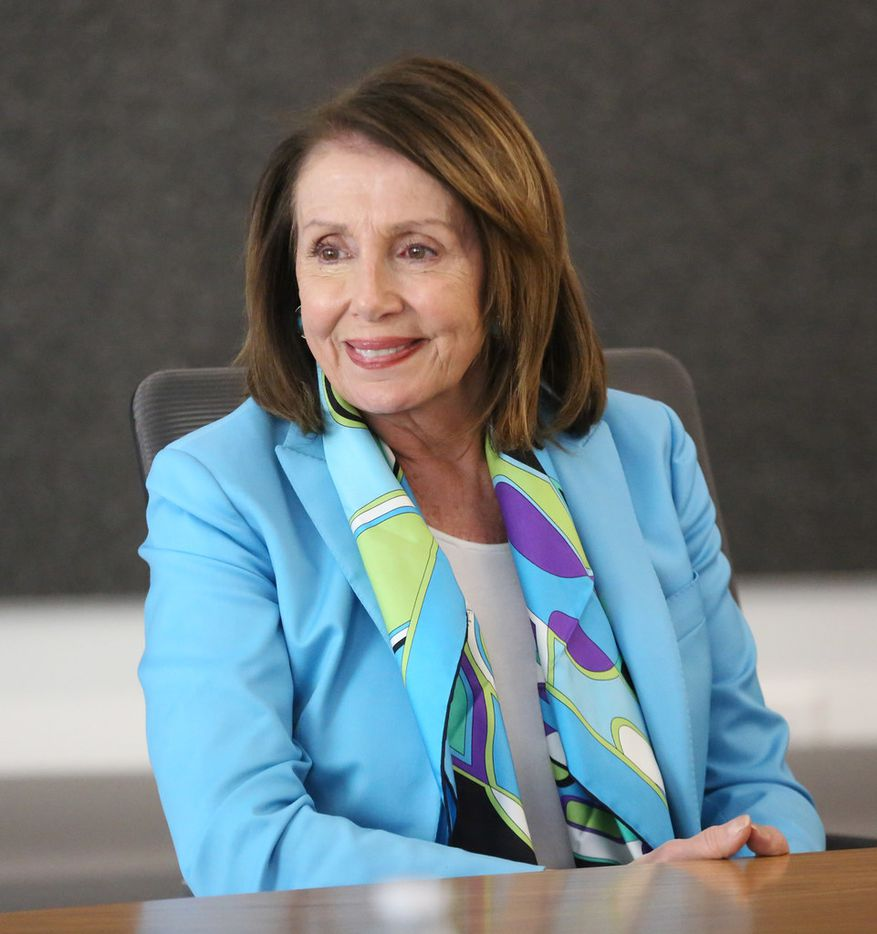 US House Minority Leader Nancy Pelosi meets with the Dallas Morning News' editorial board to discuss the Democrats' plan called the Better Deal on Friday, May 11, 2018 at the DMN offices in Dallas.  (Louis DeLuca/The Dallas Morning News)