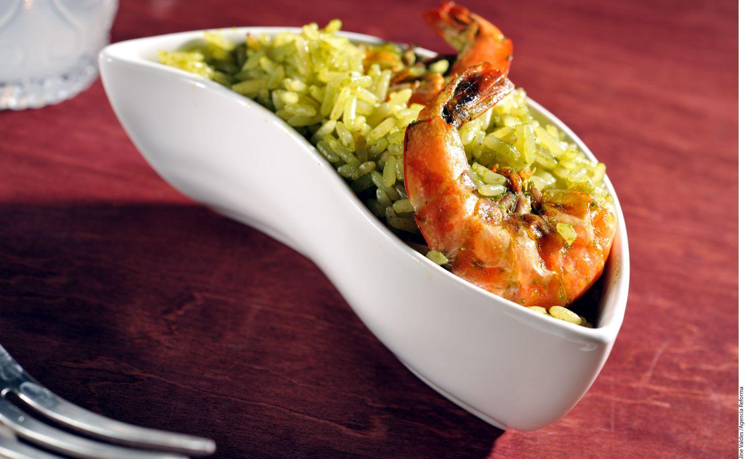 Arroz verde con camarones/ AGENCIA REFORMA