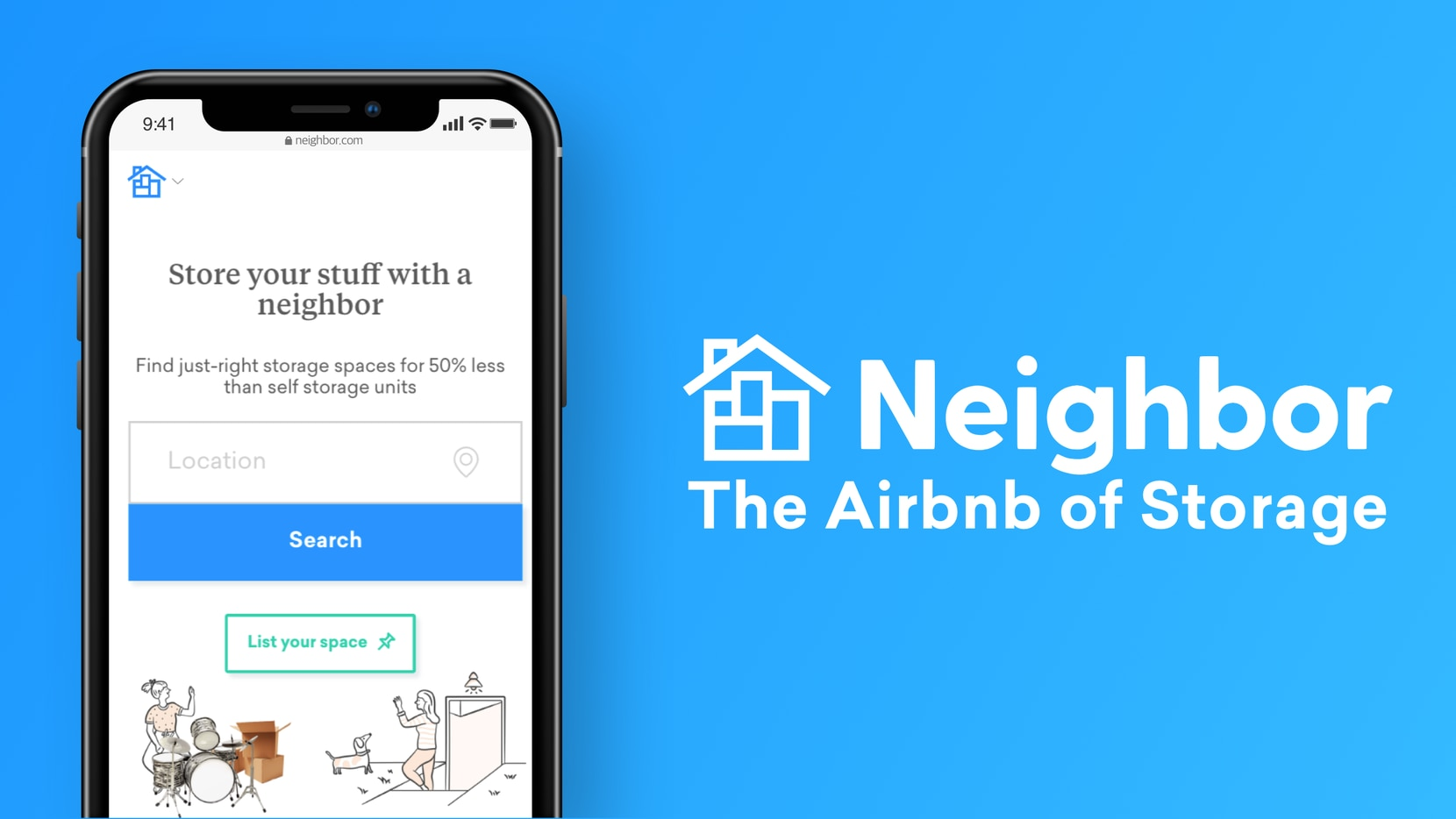 "Neighbor launches in Dallas today, advertising itself as the ""Airbnb of storage."" The company allows those who want to monetize their extra space rent it out to individuals at lower costs than traditional storage companies."