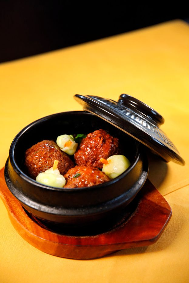 Jumbo braised meatballs with vegetables at Fortune House (Tom Fox/Staff Photographer)