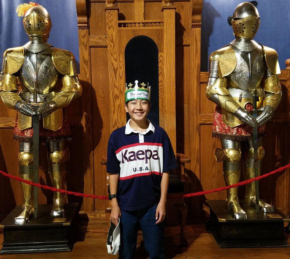 Keita Sunaga, 13, visits Medieval Times while on a 4-week exchange program. Photo courtesy of AgriLife Extension.