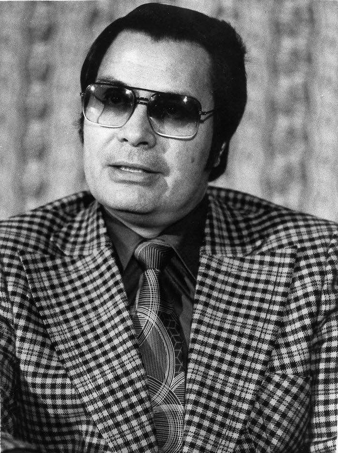 This Jan. 1976 photo shows the Rev. Jim Jones, pastor of peoples Temple in San Francisco.  (AP Photo/File)
