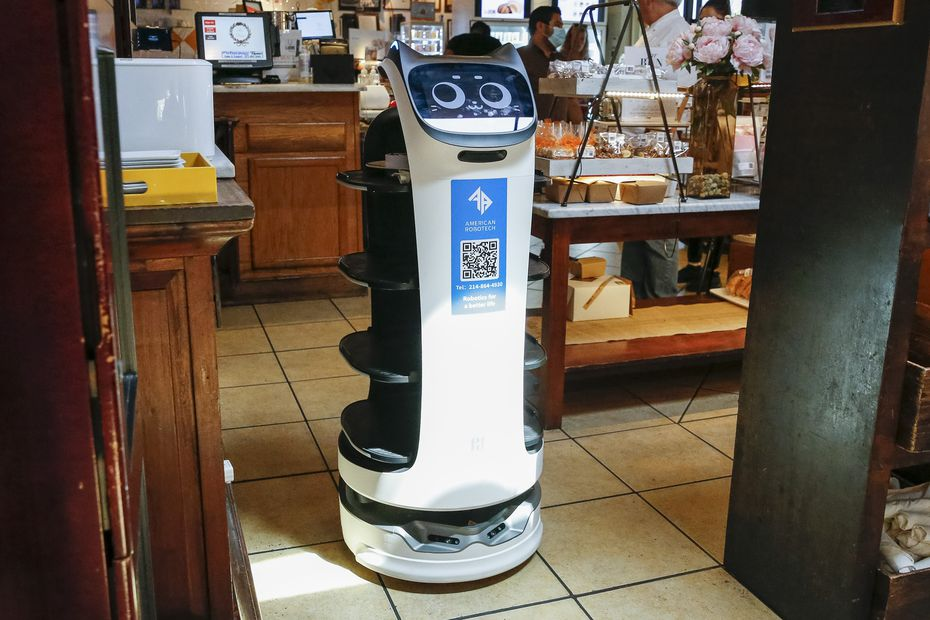 """All of La Duni's robots have personalities. Customers """"don't really see them as machines. It's really a tablet on wheels,"""" says La Duni co-owner Taco Borga. """"Somehow, with the personality and the service they provide, they embrace them like a living thing."""""""