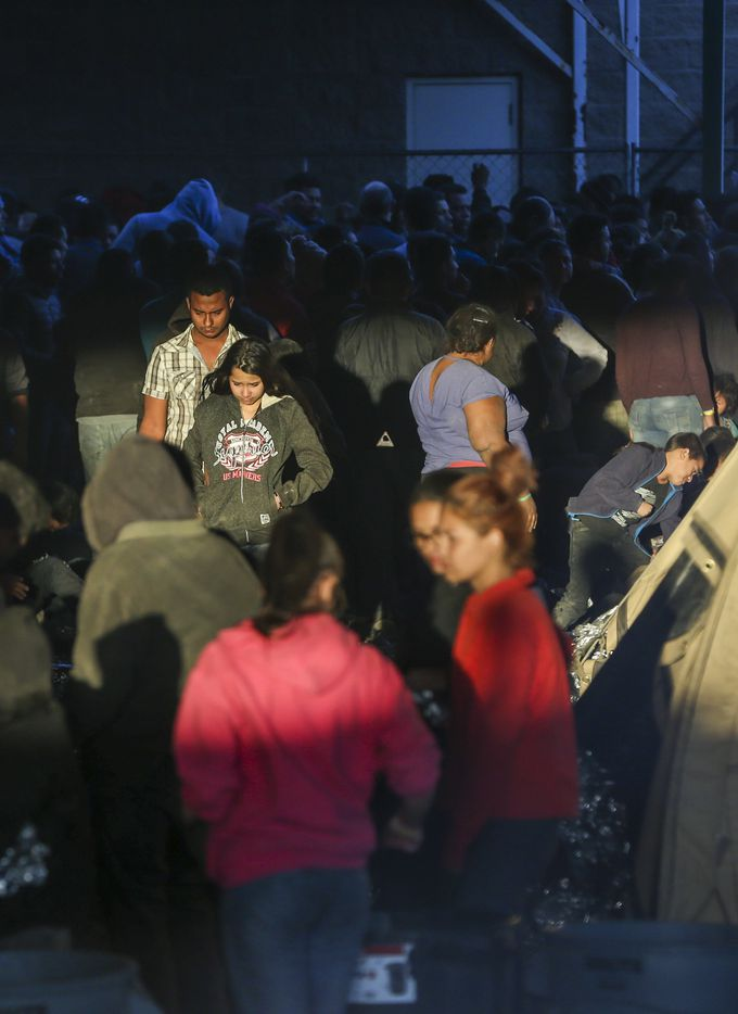 At one point as many as 1,000 migrants were reportedly held at the facility under a highway bridge.