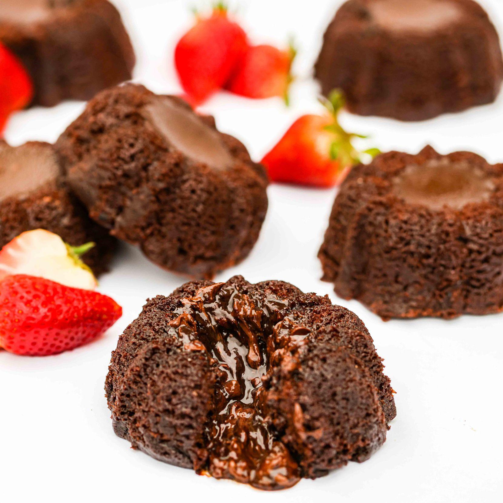 Molten Lava Chocolate Individual Bundt Cakes