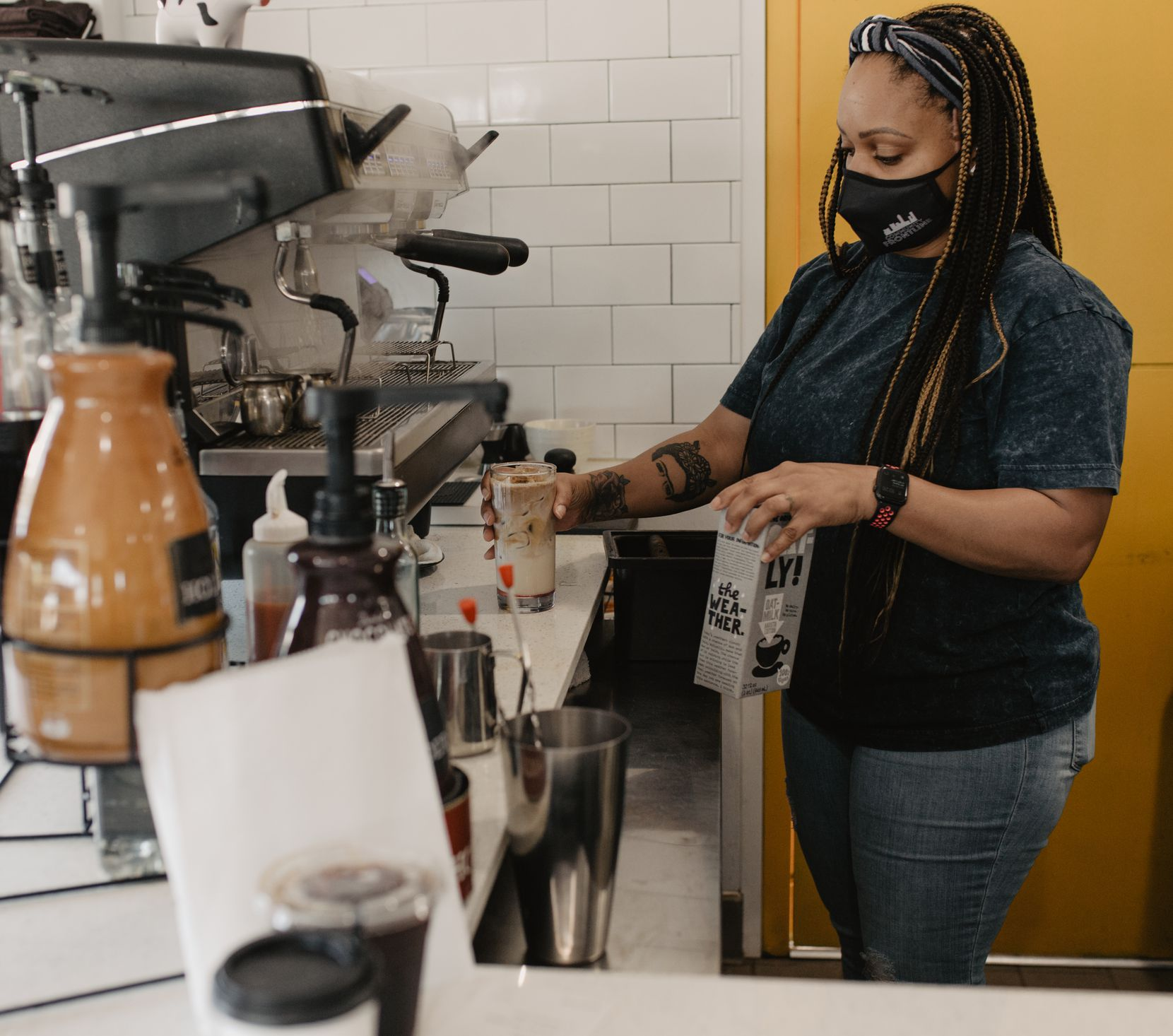 Mia Moss owns Black Coffee in Fort Worth.