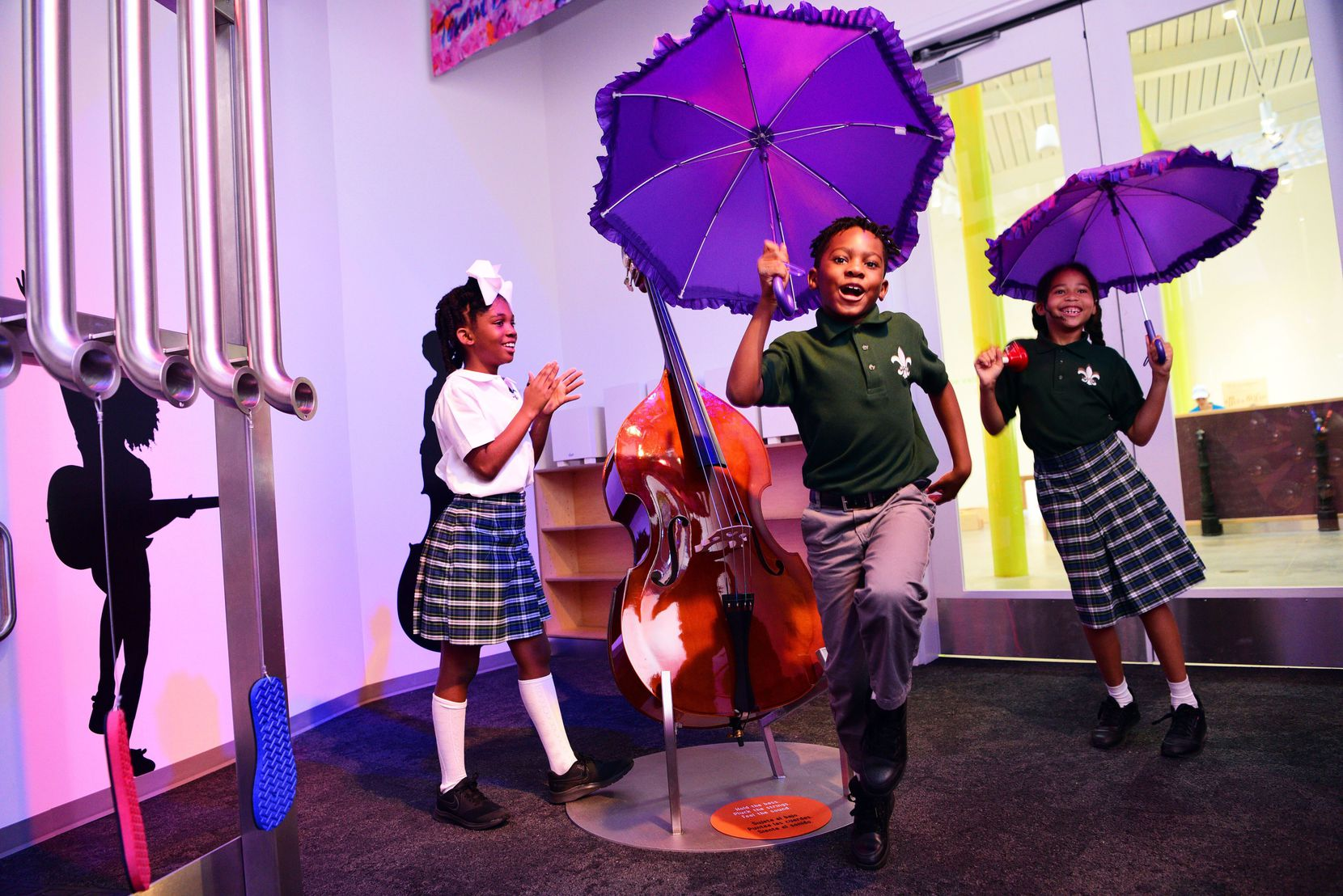 Kids dance at the Louisiana Children's Museum in New Orleans.