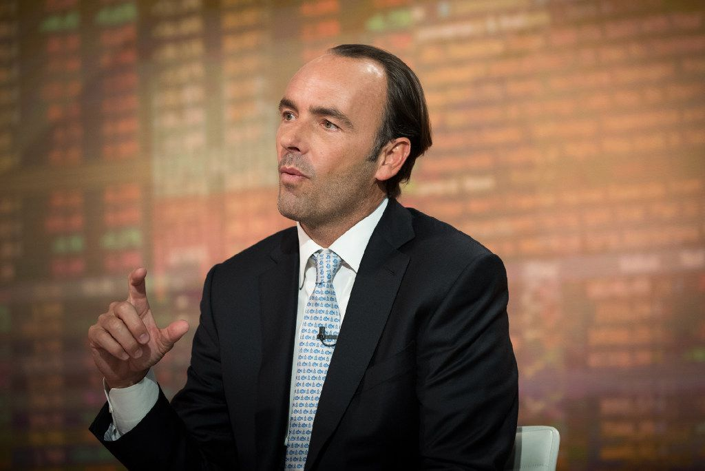 Kyle Bass, chief investment officer of Hayman Capital Management LP, speaks during a Bloomberg Television interview in New York, U.S., on Wednesday, Jan. 25, 2017. Bass discussed President Trump's tax proposals, border tax adjustability, the Chinese banking system and U.S. trade relations with China. Photographer: Kholood Eid/Bloomberg