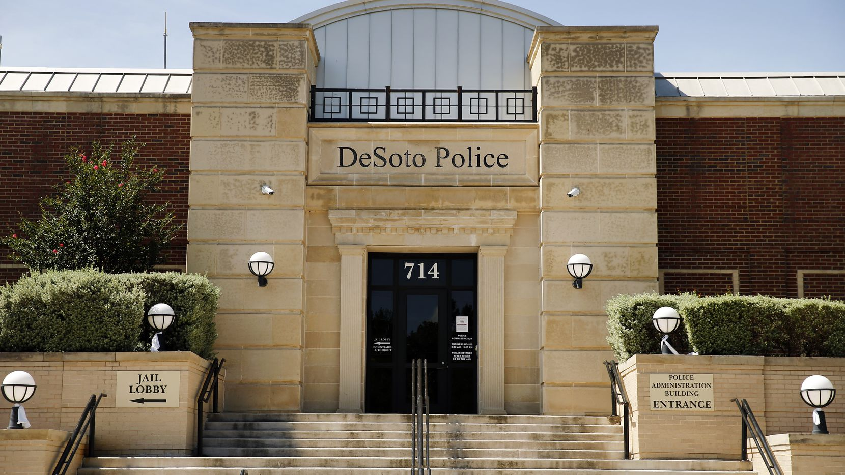 An exterior view of the DeSoto Police Department on Belt Line Rd. in DeSoto, Texas, Wednesday, June 24, 2020.