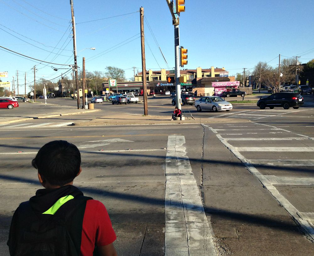 ... instead of this, which is a place where kids are terrified of crossing the street?