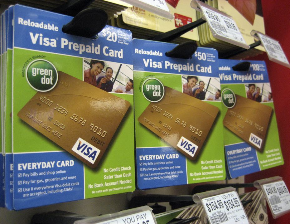 Visa prepaid cards at a drug store in New York. (AP Photo/Candice Choi)