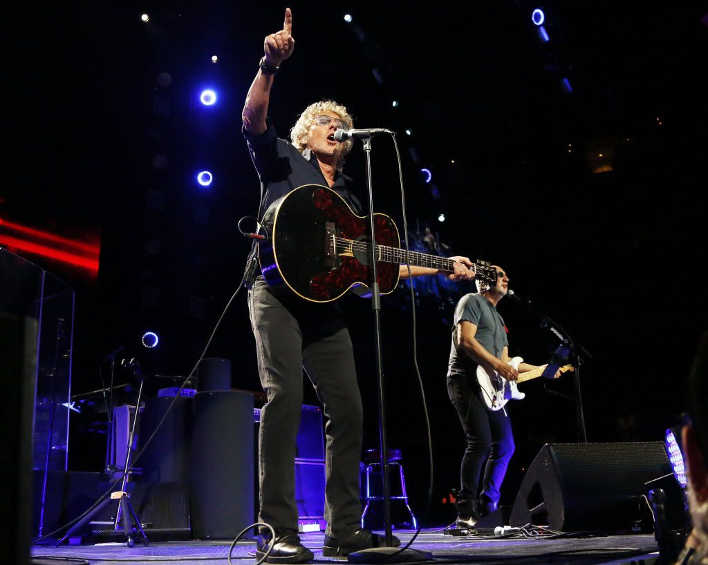 Roger Daltrey and Pete Townshend, otherwise known as what remains of The Who, at the American Airlines Center in Dallas Saturday night.