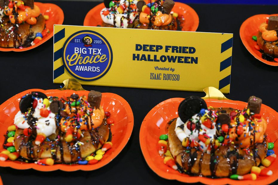 Imagine if you took the best of your kids' Halloween basket and put it on top of a soft pretzel. That's Isaac Rousso's vision with his deep-fried Halloween dessert. It was inspired by his two kids.